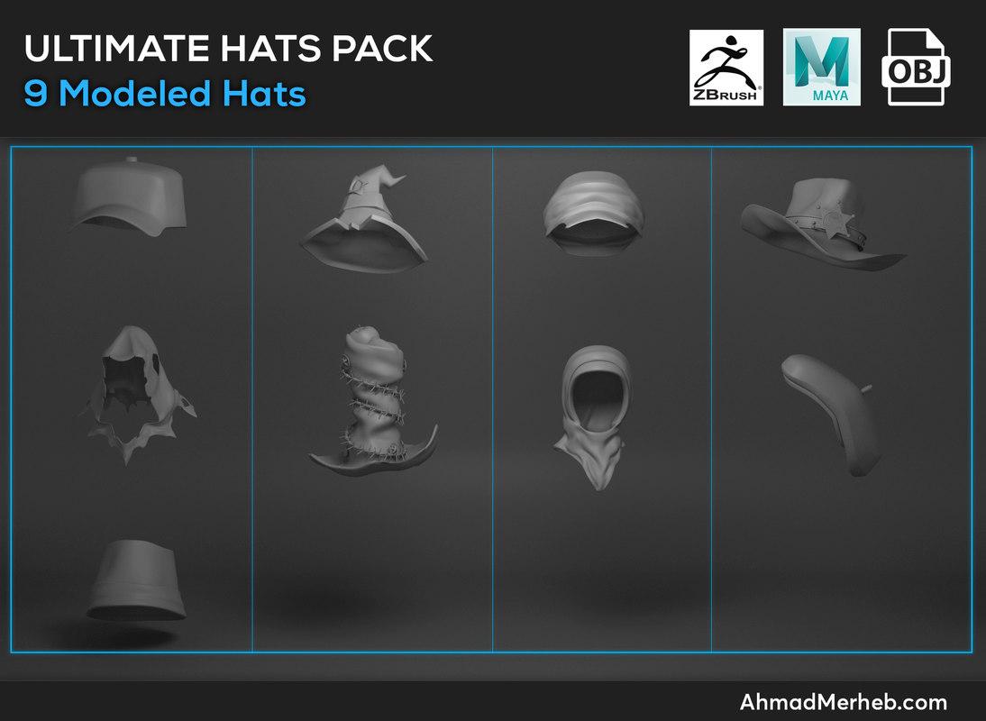 hats pack 3D