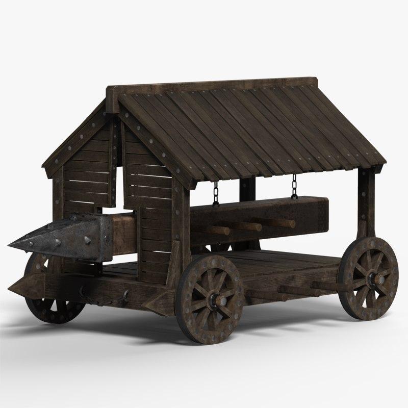 medieval battering ram model