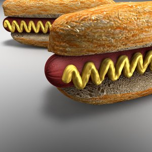3D hot dog model
