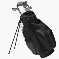 realistic golf bag 3D