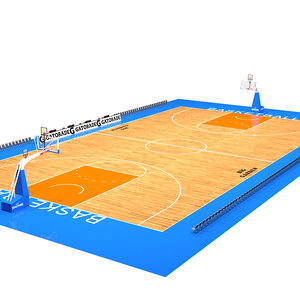 3D model basketball basket ball