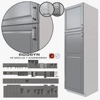 ikea kitchen bodbyn 3D model