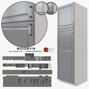 ikea kitchen bodbyn 3D model
