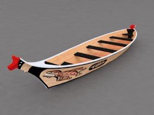 makah style canoe salish 3D