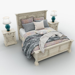 bolanburg queen bed 2 3D model