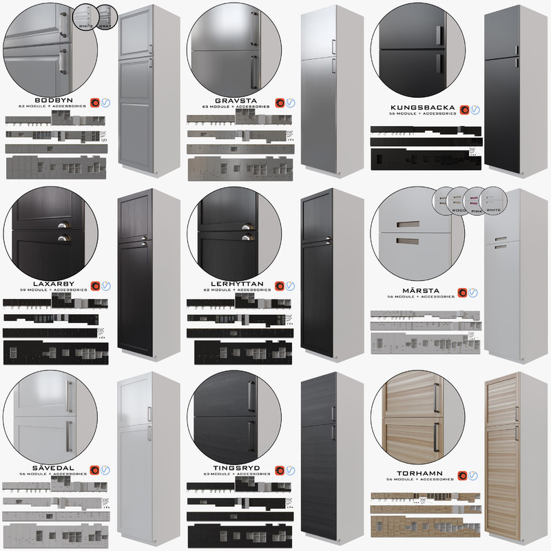 9 ikea kitchen 3D model