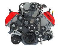 3D v8 engine gasoline ignition model