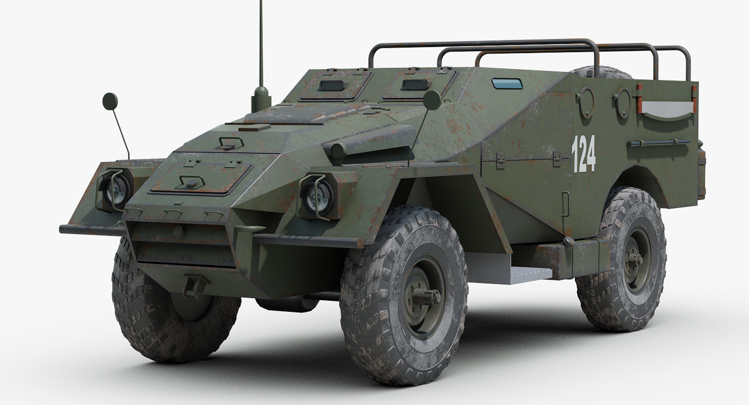 3D soviet btr 40 armored personnel