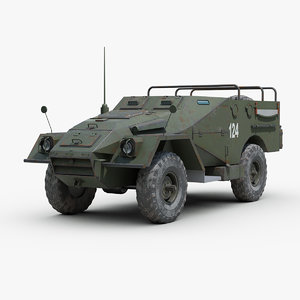 3D soviet btr 40 armored personnel