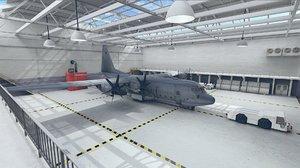 interior aircraft plane 3D model