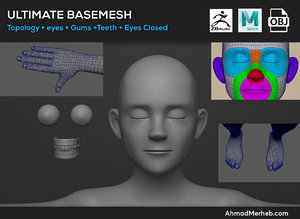ultimate base mesh 3D model
