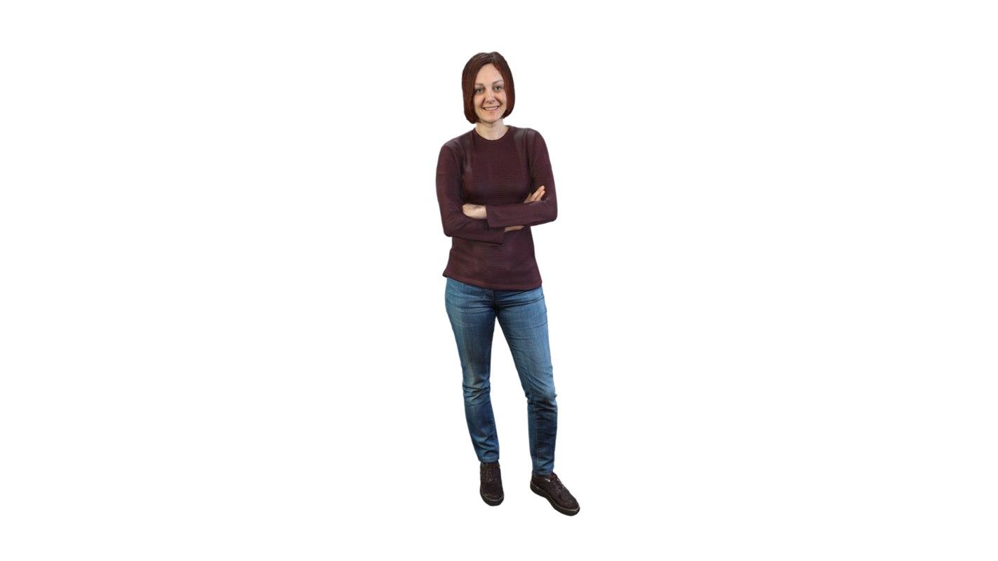 girl posing standing 3D