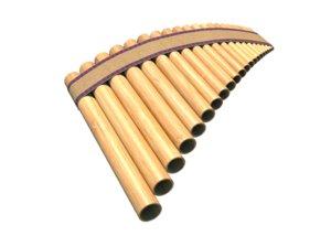 3D pan flute