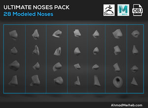 ultimate noses pack modeled 3D
