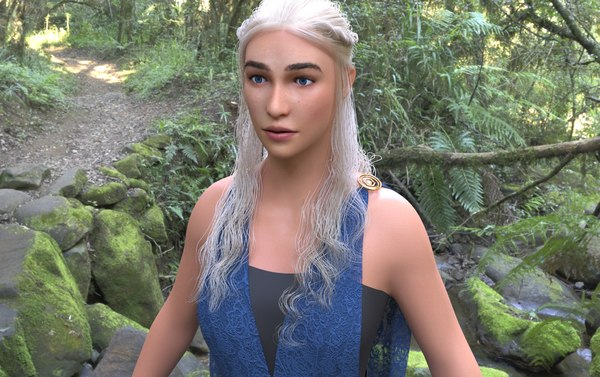 thrones mother dragons 3D model