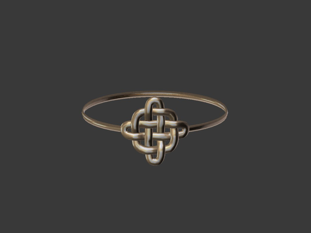 3D celtic ring model