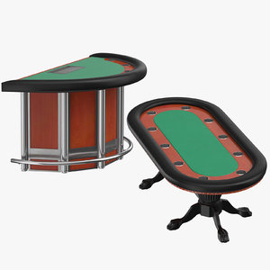 poker blackjack tables model