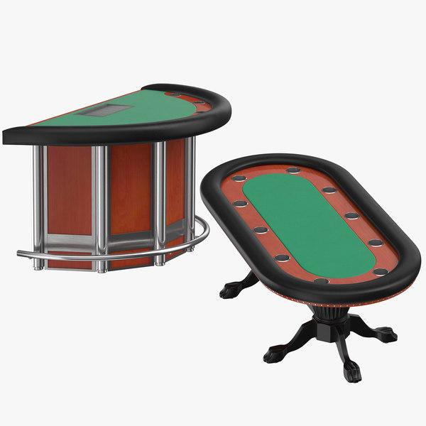 poker blackjack tables model