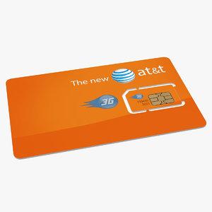 sim card t 3D