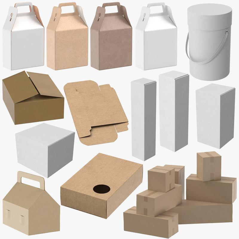 3D paper boxes