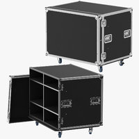 open closed stage flight case model