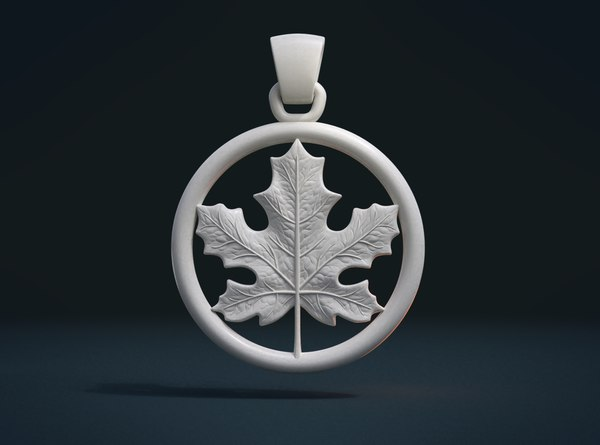 maple pendant leaf 3D