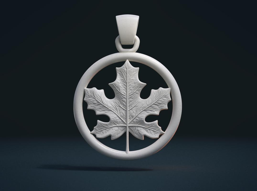 maple pendant leaf 3D