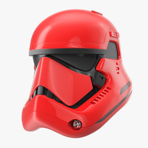 stormtrooper helmet red 3D model