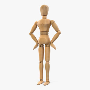 3D wooden dummy toy neutral model
