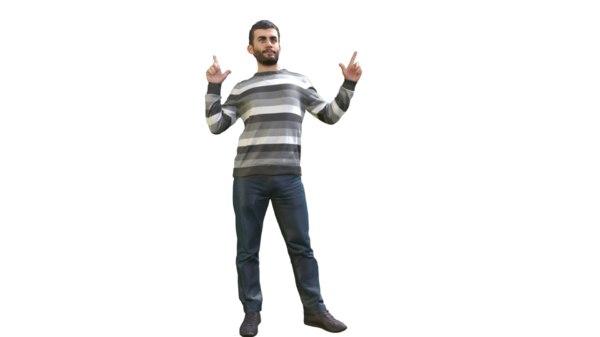3D guy pose model