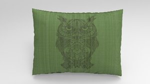 3D pillow design rhinoceros