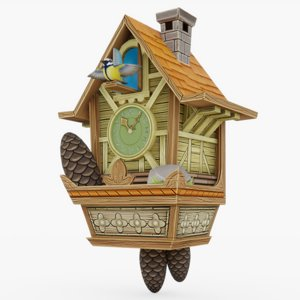 3D cuckoo clock model