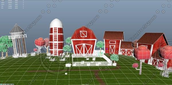 3D cartoon house wooden
