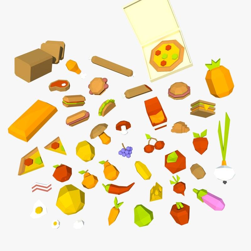 food 3D model