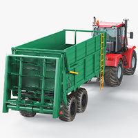 tractor fertilizer machine 3D
