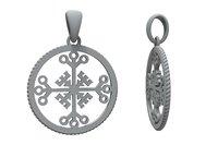 jewelry pendant celtic cross 3D model