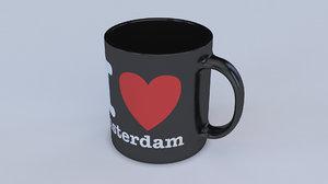 3D love mug