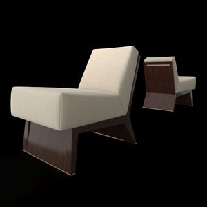 3D wedge slipper chair