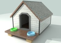 3D dog house - real model