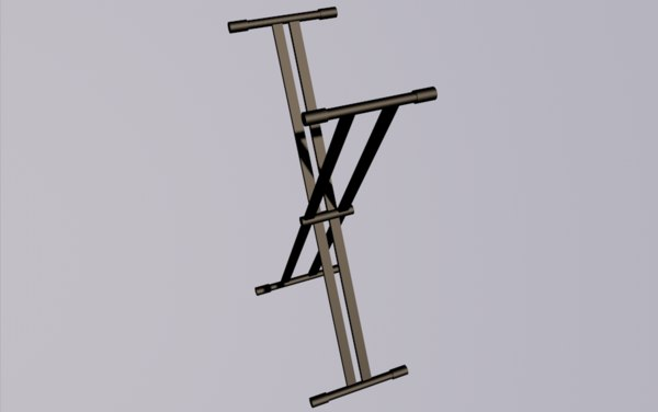 3D keyboard stand model