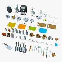 3D asset kitchenware model