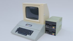 old apple computer 3D model
