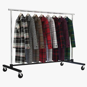 3D model coat clothing rack