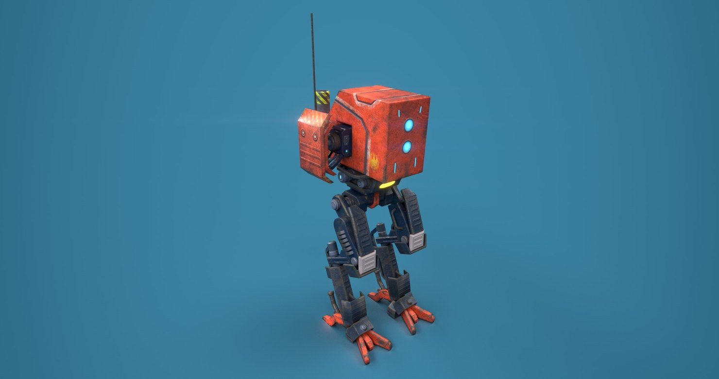 engineer bot 3D model