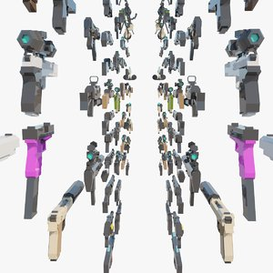weapons asset pack model