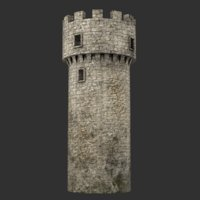 blender tower medieval 3D model