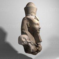 amenhotep statue 3D model