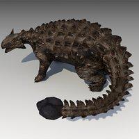 3D ankylosaurus animations model