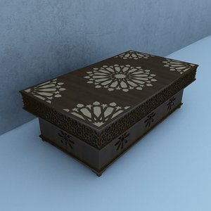traditional table architecture interior 3D