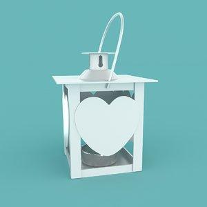 christmas heart lantern 3D